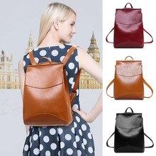 Bags for women 2018 PU leather backpack for Girls Female School Shoulder Bag  luxury bolsos de mujer designer backpack mochila bdf8824b15