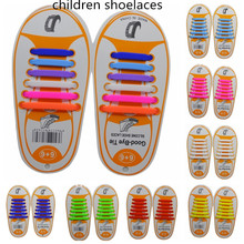 12pcs/Pair Kids Children Elastic Silicone Shoelaces Athletic No Tie Shoelaces Child Shoes Laces Baby Sports Sneakers Fit Strap(China)