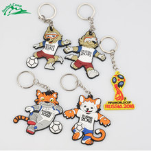 2018 World Cup Russian Mascot Souvenir Soccer Football Keychain Sports Abudhabi Waka(China)