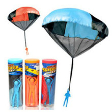 4PiecesFashion Baby Toys Parachute Outdoor Sport Games Kids Throw Parachute Toys For Kids Trapeze Jumping Stilts Plastic Balance