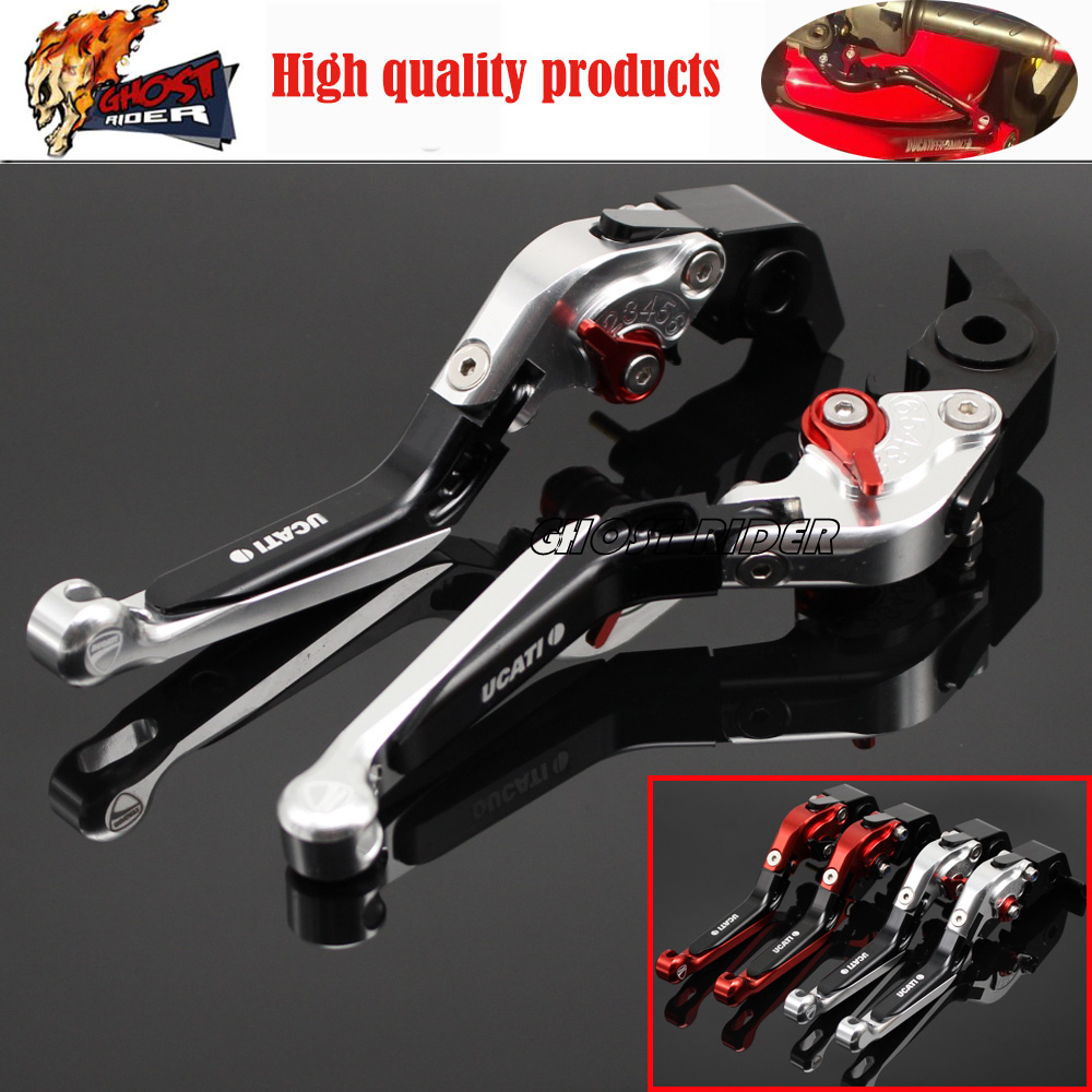 fits for DUCATI DIAVEL / CARBON MULTISTRADA 1200/S Motorcycle Accessories CNC Aluminum Folding Extendable Brake Clutch Levers<br>