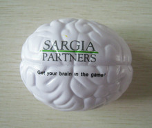 OEM 7cm pu foam material pu brain stress ball,brain anti stress ball,promotion gifts,in printing your logo 50pcs/lot(China)