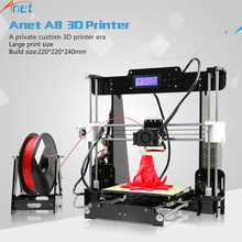 2017 New ! Anet E10 A8 A6 3D Printer Machine Large Printing Size High Precision Reprap i3 DIY 3D Printer Kit with Free Filament(China)