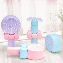 Cute Lemon Child Pocket charger Small fan student portable handheld children mini Fan(China)
