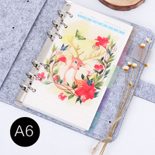 A5 A6 Spiral Notebook Loose Leaf Transparent PP Separator Pages Red Deer 5 sheets Separate Match filofax Kikkik
