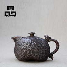 2016 new arrival black rust glaze ceramic teapot kettle porcelain tea pot  for tea,convenience office teaset freeshipping
