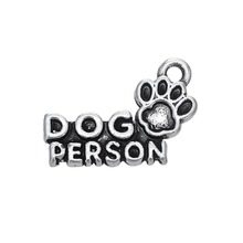 my shape 20Pcs Alloy Word Dog Person Paw Print Charm Accessories Jewelry(China)