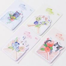 Meow Your Message Self-Adhesive Memo Pad Sticky Notes Post It Bookmark School Office Supply(China)
