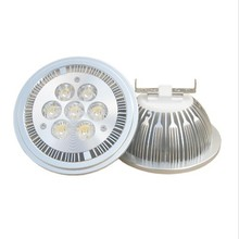 Wholesale! Dimmable7X3W 21W AR111 / QR111 / ES111 LED ceiling lamp down light DC12V ,FedEX or DHL Free Shipping(China)