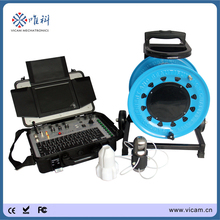 Vicam Diameter 50mm PT rotate borehole inspection camera 100m cable water well inspection camera with robot camera head