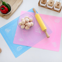 Pastry Fondant Silicone Work Rolling Kneading Baking Cake Dough Mat With Measurement Scale Table Grill Pad Cooking Bakeware Tool