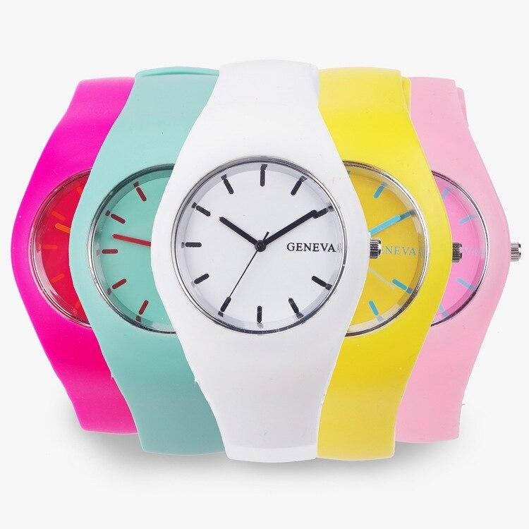 2017 Fashion Ice Cream Color Ultra-thin Fashion Gift Silicone Strap Leisure Watch Geneva Sport Wristwatch Women Jelly Watches<br><br>Aliexpress