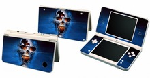 Blue Skull 108 Vinyl Skin Sticker Protector for Nintendo DSI XL LL for NDSI XL LL skins Stickers(China)