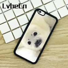 LvheCn TPU Phone Cases For iPhone 6 6S 7 8 Plus X 5 5S 5C SE 4 4S ipod touch 4 5 6 Cover Baby Harp Seal Pup(China)