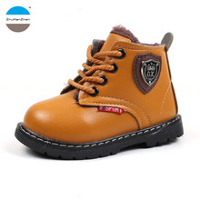 2017 1 to 5 years old baby boy and girl fashion cotton boots good quality warm children snow boot winter autumn casual shoes(China)