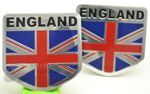 Rhino Tuning 2PC* Union Jack Flag Rear Boot Trunk Car Auto Badge Sticker ENGLAND Car Side Wing Emblem Sticker 302