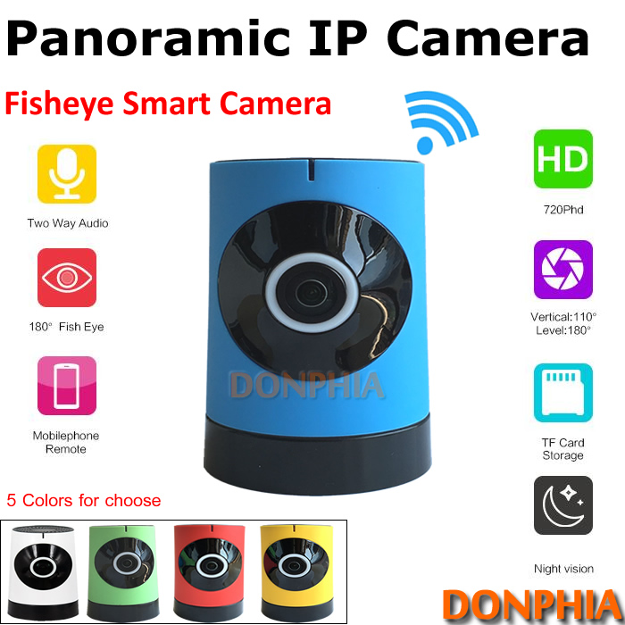 2017 Plug and play wifi IP Camera Indoor 720P Mini Wireless onvif fisheye lens panoramic Surveillance Camera phone remote view<br><br>Aliexpress