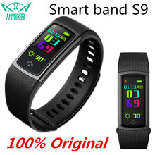 Smart Bracelet S9 Carbon fiber technology 096 inch color IPS display heart rate blood pressure blood oxygen measurement PK band2(China)