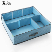 Adjustable Bamboo charcoal shoes storage box large capacity organizer bags good quality solid color storage box protect shoes(China)
