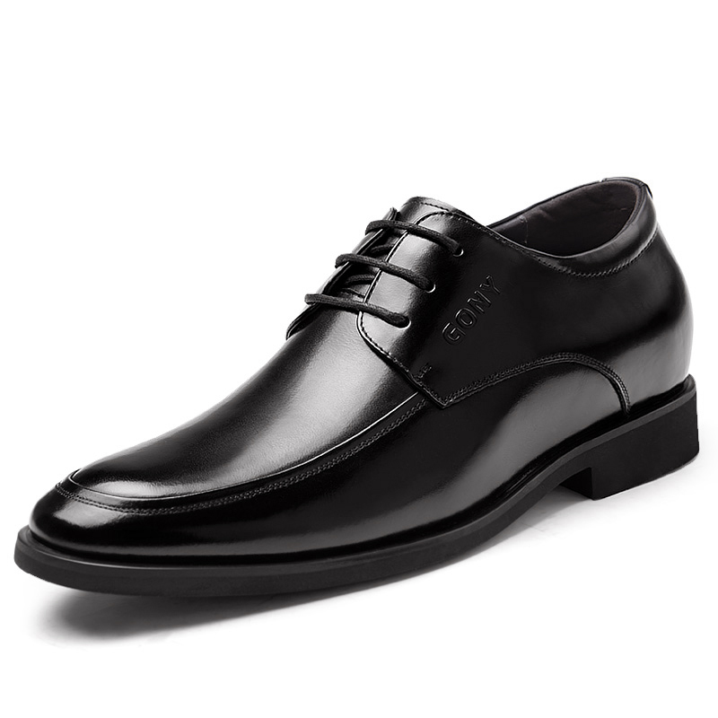 2.36 Inches Taller-Genuine Leather Heightening Elevated Derby Shoes Formal Business Wedding Shoes<br><br>Aliexpress
