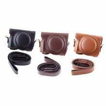 3 Colors Fashion Vintage PU Leather Camera Case Bag For Canon G9X Camera(China)