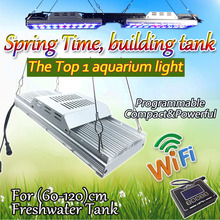 Programmable aquarium lighting full spectrum Freshwater Tank led lamps aquarium plant 120cm sunrise sunset dimmable timer wifi(China)
