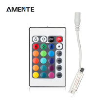 1Pcs DC 12V 24 Keys IR Remote Controller RGB LED Strip Lamp Dimmer for 2835 3528 5050SMD LED strip(China)