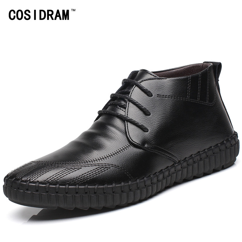 2016 Winter Soft Leather Plush Men Boots With Fur ...