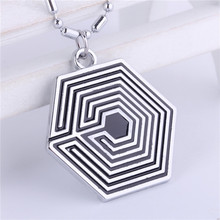 Pop Star Jewelry EXO Logo Pendant Necklace Beads Chain Necklace Overdose KRIS KAI XIUMIN Free Shipping Fans Gifts(China)