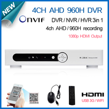 home 4 channel full AHD 960H D1 real time recording CCTV security dvr NVR onvif recorder HDMI 1080P surveillance video DVR 4ch
