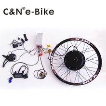 super speed 5000w powerful wheel hub motor kits with TFT display electric bike conversion kit