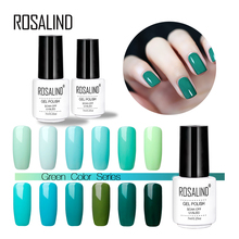 ROSALIND 7ml Nail Polish Soak off LED UV Gel Nail Polishes Lacquer Semi Vernis Permanent Gel Varnish Nail Art Lacquer(China)