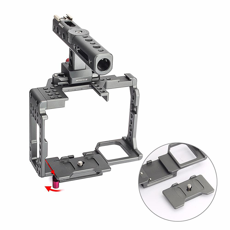 WARAXE-A7-Camera-Cage-Built-in-Quick-Release-Fits-Arca-Swiss-for-Sony-A7-A7R-A7S-2
