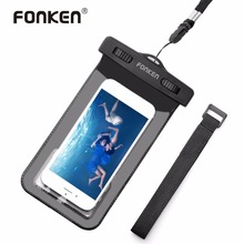 FONKEN Waterproof Case for Phone Case IPX8 Waterproof Bag Touch Operation 30M Underwater Case With Lanyard Swimming Bag(China)
