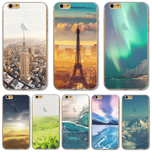 For iP7+ 5.5'' Soft TPU Cover For Apple iPhone 7Plus Cases Phone Shell Charming Painted Mountain Scenery Best Choice