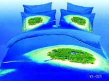 Green Island And Dark Blue Sea Bedding Sets 3d Print 7 Pcs Duvet Cover Bedspreads Brand Bed In A Bag Sheets Queen Super King(China)