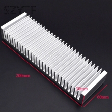 Buy Heat sink 200 * 60 * 30MM, silver high-quality aluminum heat sink special thicker amplifier for $15.66 in AliExpress store