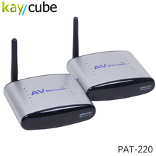 PAT-220 2.4GHz 4 Channel Wireless AV Audio Video Transmitter Receiver with IR Remote For DVD DVR CCD Camera IPTV Kaycube(China)