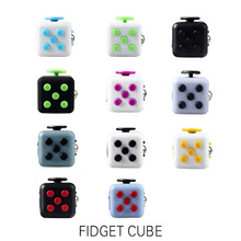 2017 Real 20pcs/lot Mini Fidget Cube Toy Vinyl Desk Finger Toys Squeeze Fun Stress Reliever Antistress Cubo Figet Magic Puzzle(China)
