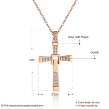 Mens 65cm Chains Jesus Piece of Fast and Furious Cross Pendant Necklaces Gold Necklace Snake N704 For Holiday Gift