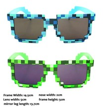 Deal with it Minecraft Glasses 8 bit Pixel Women Men Sunglasses Female Male Mosaic Sun Glasses Men's Women's Glasses Boys Girls
