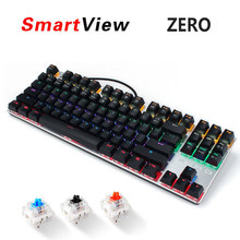 Metoo Metal 104/87 Keys Backlit or Normal Gaming Wired Mechanical Keyboard Black Blue Red Switch for Gamer PC Computer Laptop