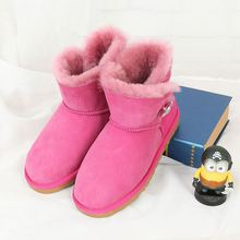 Special offer 100% pure natural Australian sheepskin boots High quality female boots short leather boots Wholesale free shipping(China)