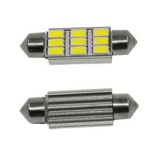 9 LED 5630 SMD Festoon C5W CANBUS ERROR FREE Auto Car Dome License Plate Map Reading Light Bulb 12V 36mm White Ice Blue