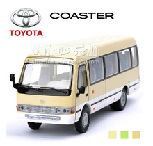 High Simulation Model Toys:  Classic Beige Bus Models Toyota Coaster Alloy  Bus  Model  Excellent  Christmas Gifts
