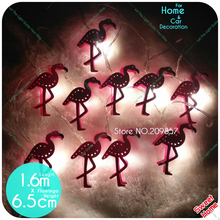 New 10 LED Pink Gift Girl Bedroom Flamingo Decoration String Lights Patio Lamp Fairy Party Decor Home Kids Baby Holiday Lighting(China)