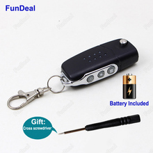 Brand New 433MHz 3Ch Universal Wireless Auto Copy Code Face to Face RF Garage Door Key Remote Control Duplicator Transmitter DIY