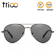 be5eeb43a6 TRIOO Prescription Sunglasses Men UV400 Myopia Optical Sun Glasses Black  Lens Male Glasses Minus Graduate Diopter