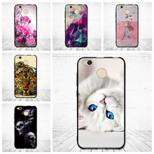 For Xiaomi redmi 4x Case Luxury Back cover for Redmi 4x 3D Relief Painting Silicone Case for Xiaomi redmi 4 X 4X Soft Coque Capa