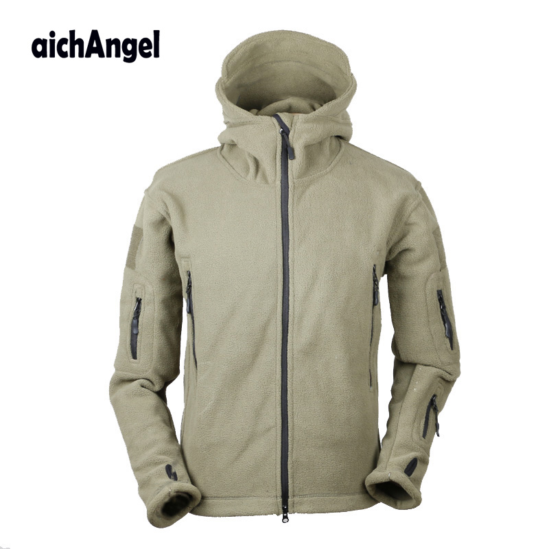 Military Fleece Jackets Men Hooded Windproof  Hooded Tactical Outerwear Coat Warm Army Jacket Clothes